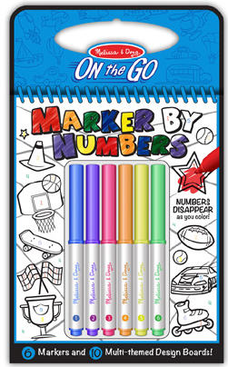 Color By Numbers - Blue Arts and Crafts