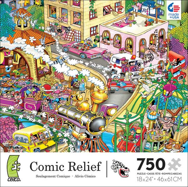 Comic Relief - Heaven on Earth Cartoons Jigsaw Puzzle