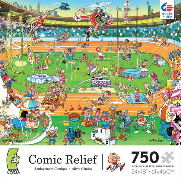 Comic Relief - Olympics Cartoons Jigsaw Puzzle