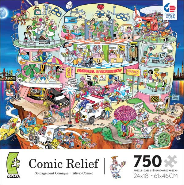 Comic Relief - Whacky Hospital Cartoons Jigsaw Puzzle