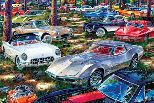 World's Smallest Jigsaw Puzzle -Corvette Dreams Cars Miniature Puzzle