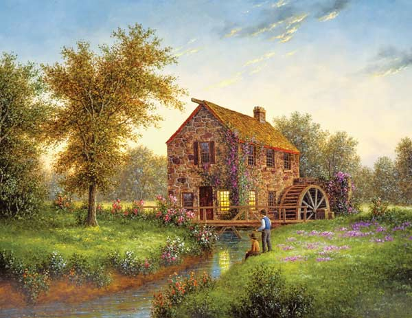 Puzzles to Remember - Country Mill Countryside Jigsaw Puzzle