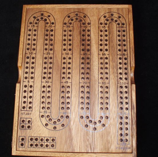 Cribbage Board - Large w/ cover