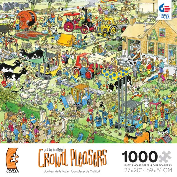 Crowd Pleasers - The Farm Cartoons Jigsaw Puzzle