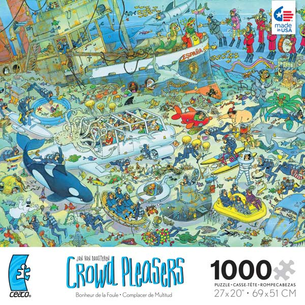 Crowd Pleasers - Deep Sea Fun Cartoons Jigsaw Puzzle
