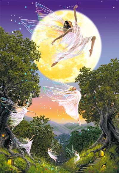 Dance of the Moon Fairy Fairies Jigsaw Puzzle