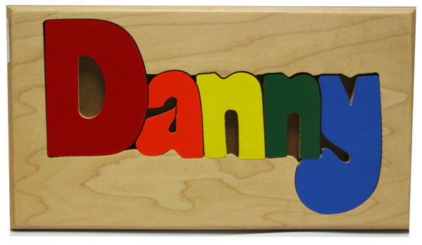 Danny Wooden Name Puzzle