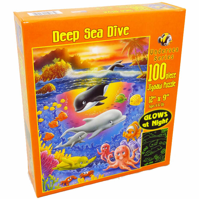 Deep Sea Dive Under The Sea Glow in the Dark Puzzle