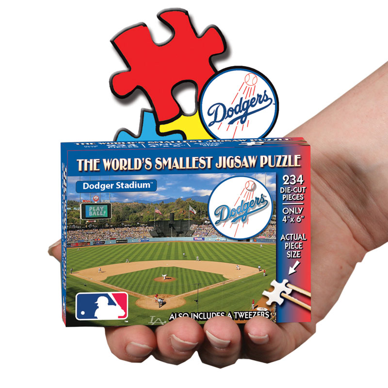 World's Smallest Puzzles MLB - Los Angeles Dodgers Sports Jigsaw Puzzle