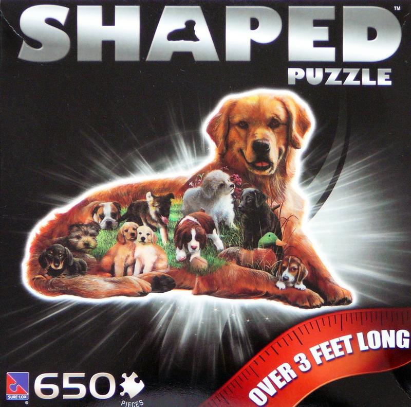 Golden Retriever Shaped Puzzle Jigsaw Puzzle