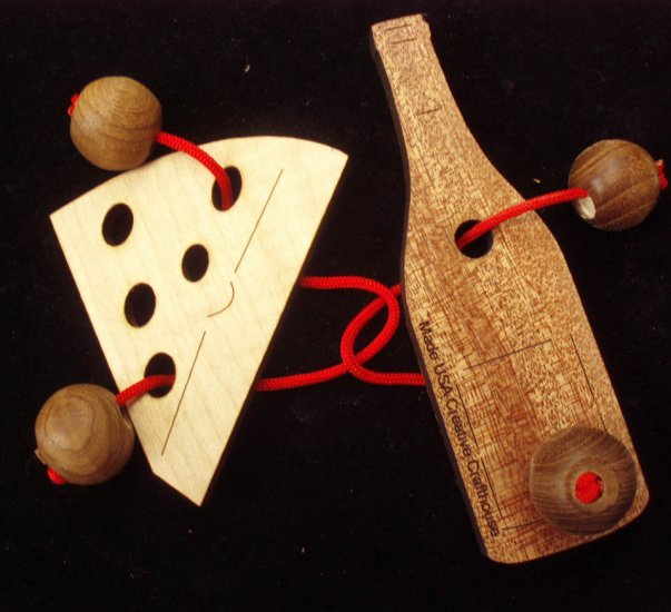 Double Trouble String Puzzle - Wine & Cheese