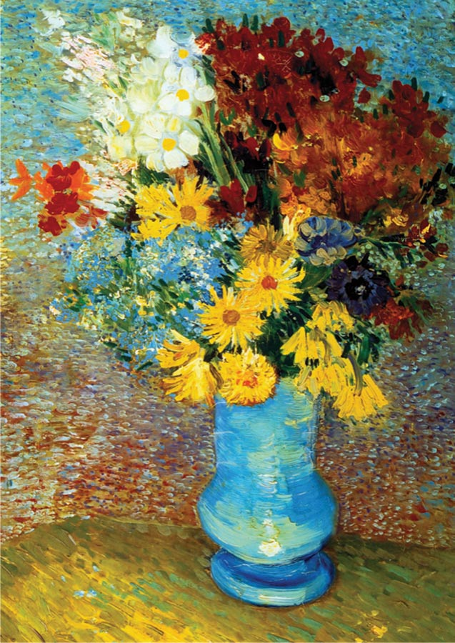 Flowers in Blue Vase - Scratch and Dent Flowers Jigsaw Puzzle