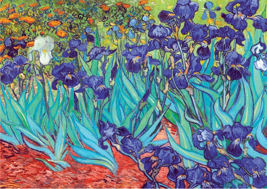Irises - Scratch and Dent Van Gogh Irises Jigsaw Puzzle