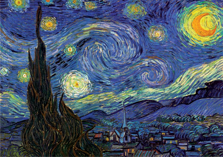 The Starry Night Van Gogh Starry Night Jigsaw Puzzle
