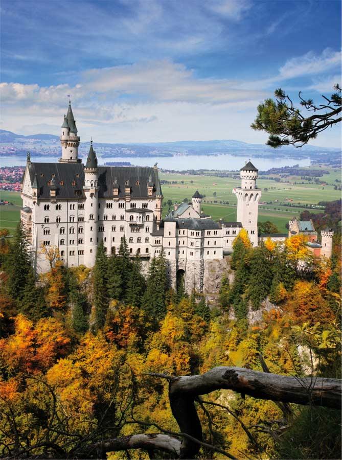 Neuschwanstein Portrait Travel Jigsaw Puzzle