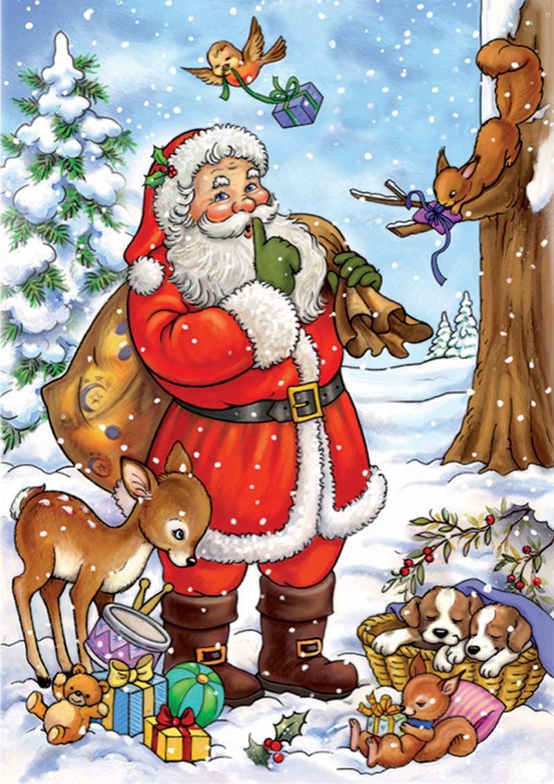 Santa Tells a Secret Santa Jigsaw Puzzle