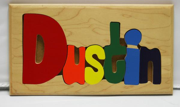 Dustin Wooden Name Puzzle