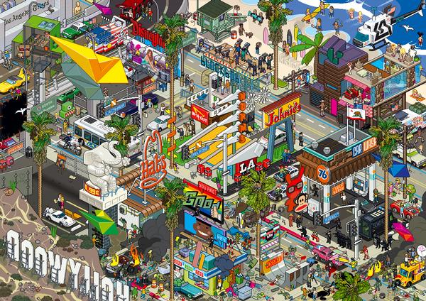 eBoy, Los Angeles Cartoons Jigsaw Puzzle