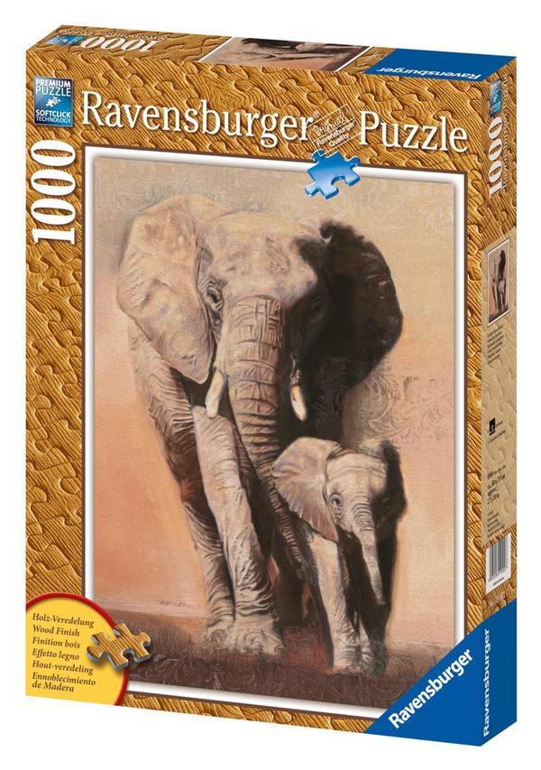 Elephant Family Other Animals Jigsaw Puzzle