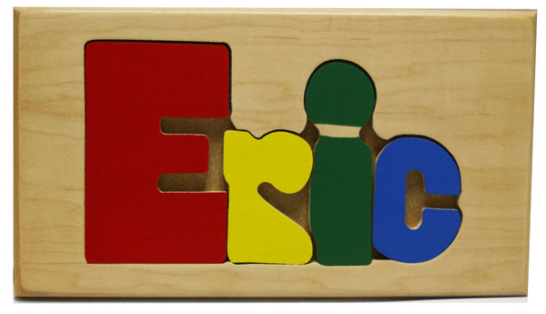 Eric Wooden Name Puzzle