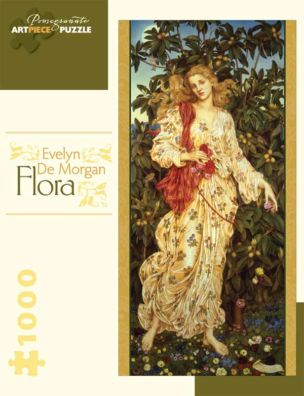 Evelyn De Morgan - Flora Fine Art Jigsaw Puzzle