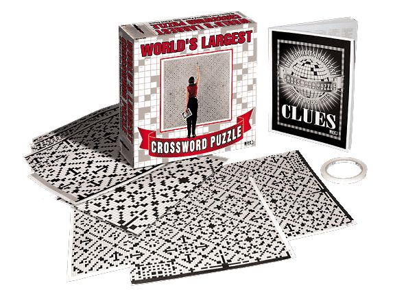 World's Largest Crossword Puzzle Activity Books and Stickers