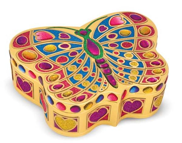 Peel and Press Mosaics - Jewelry Box Butterflies and Insects Arts and Crafts
