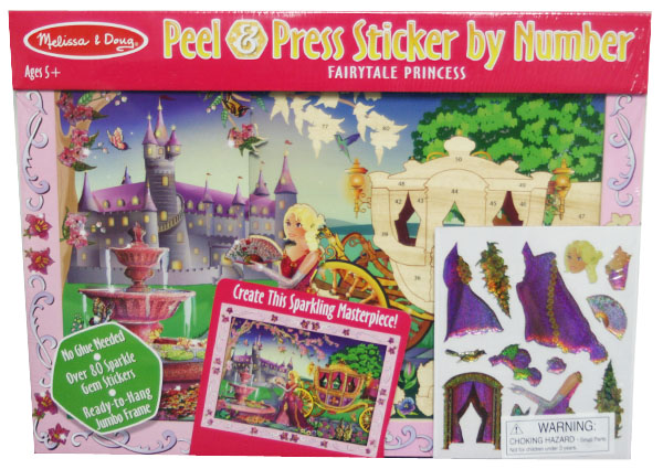 Peel and Press - Fairytale Princess Princess Activity Books and Stickers