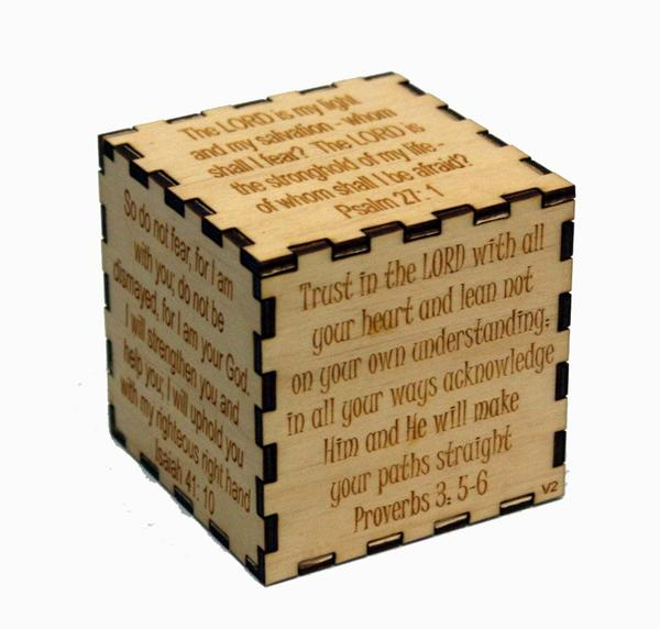 Motivational Blocks - Faith Scripture Inspirational Wooden