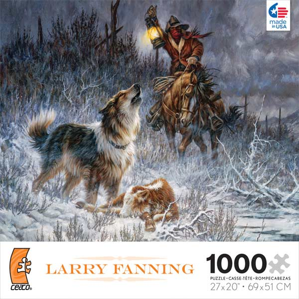 Larry Fanning - Just in Time Native American Jigsaw Puzzle