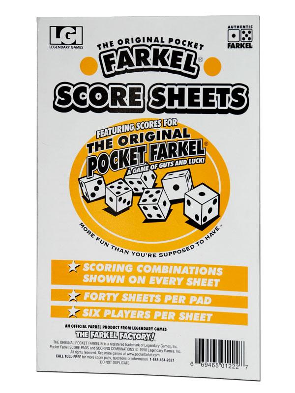 Farkel Score Pad Large