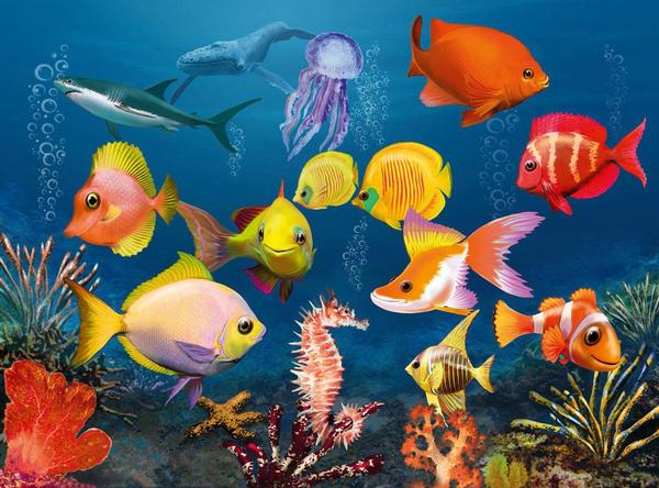 Fascinating Underwater World 3D Fish 3D Puzzle