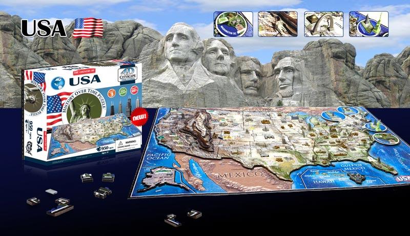 USA History Skyline / Cityscape Jigsaw Puzzle