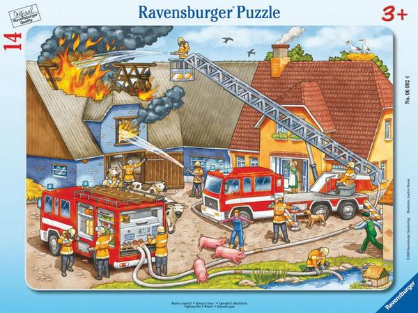 Fighting Fire Cartoons Children's Puzzles