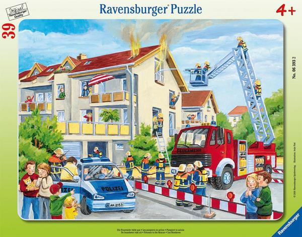 Firemen to the Rescue Cartoons Jigsaw Puzzle