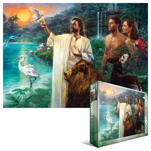 First Creation in Eden Religious Jigsaw Puzzle