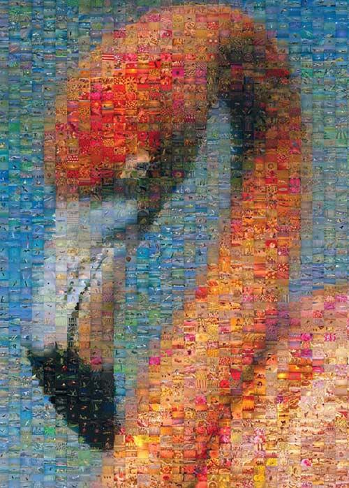 Flamingo Mosaic Birds Jigsaw Puzzle