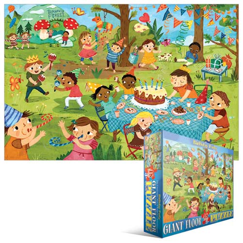Party Time! Birthday Party - Floor Puzzle Cartoons Children's Puzzles