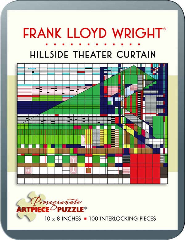 Frank Lloyd Wright - Hillside Theater Curtain Abstract Jigsaw Puzzle