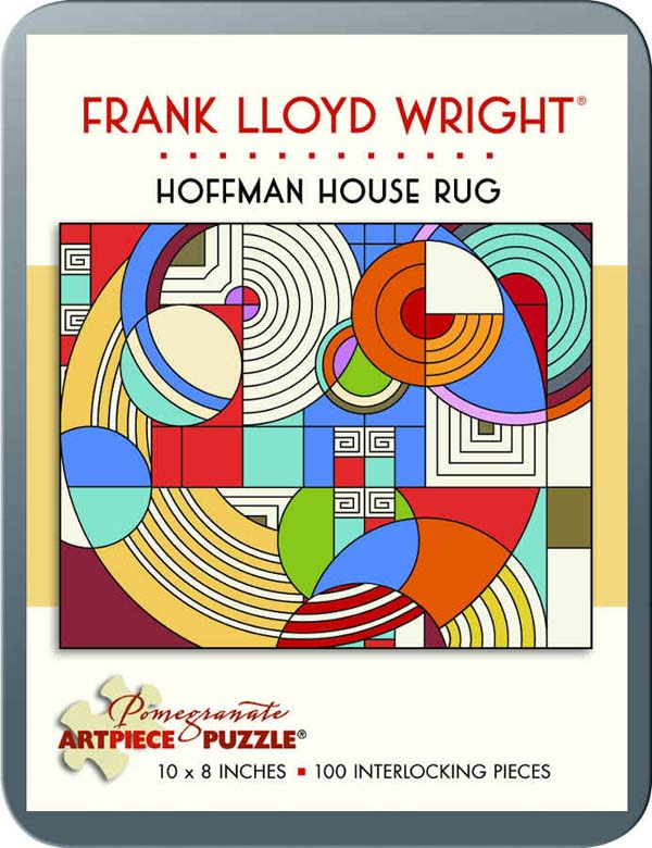Frank Lloyd Wright   Hoffman House Rug Abstract Jigsaw Puzzle