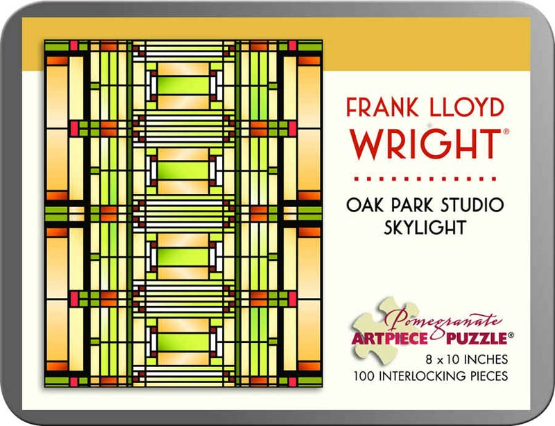 Frank Lloyd Wright - Oak Park Studio Skylight Abstract Jigsaw Puzzle