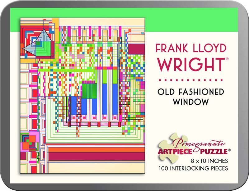 Frank Lloyd Wright - Old Fashioned Window Abstract Jigsaw Puzzle