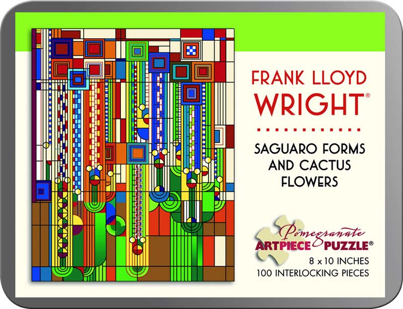 Frank Lloyd Wright - Saguaro Forms and Cactus Flowers Abstract Jigsaw Puzzle