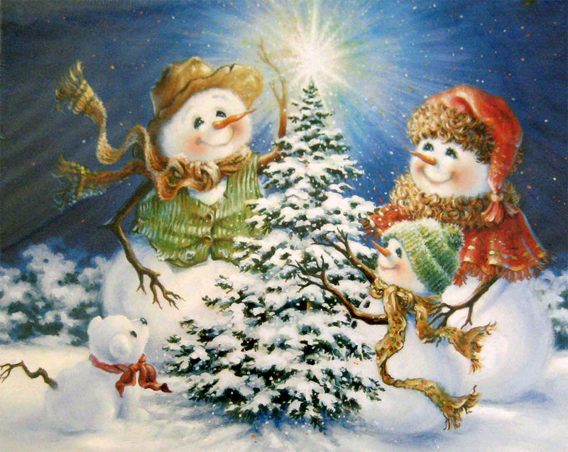Frosty Family Christmas Children's Puzzles