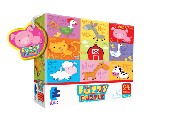 Fuzzy Puzzle - Barn Farm Animals Jigsaw Puzzle