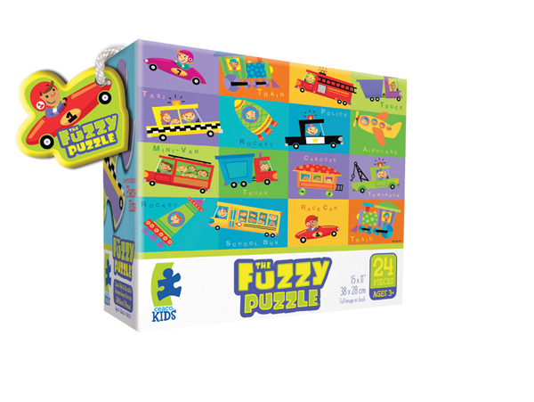 Fuzzy Puzzle - Vehicles Vehicles Children's Puzzles