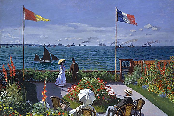 Garden at Sainte-Adresse by Claude Monet Fine Art