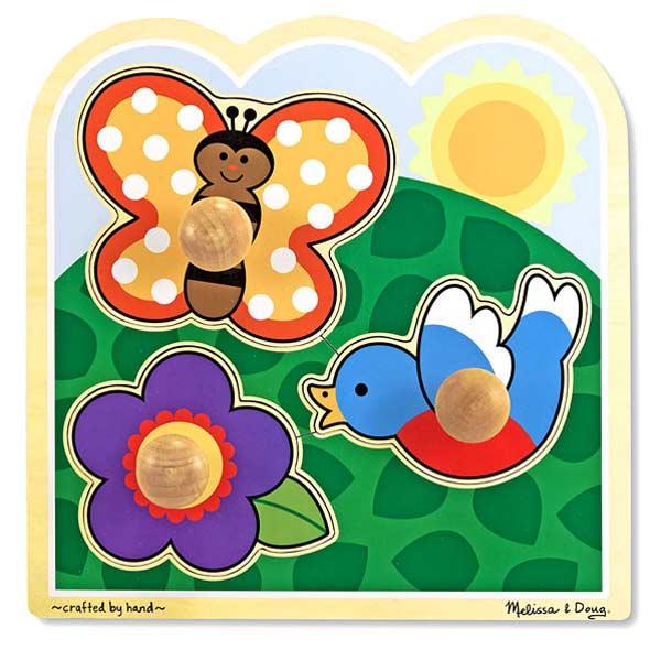 Garden Jumbo Knob Flowers Children's Puzzles