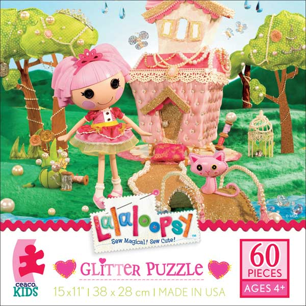 Glitter Puzzle - Jewel Sparkles Cartoons Glitter / Shimmer / Foil Puzzles