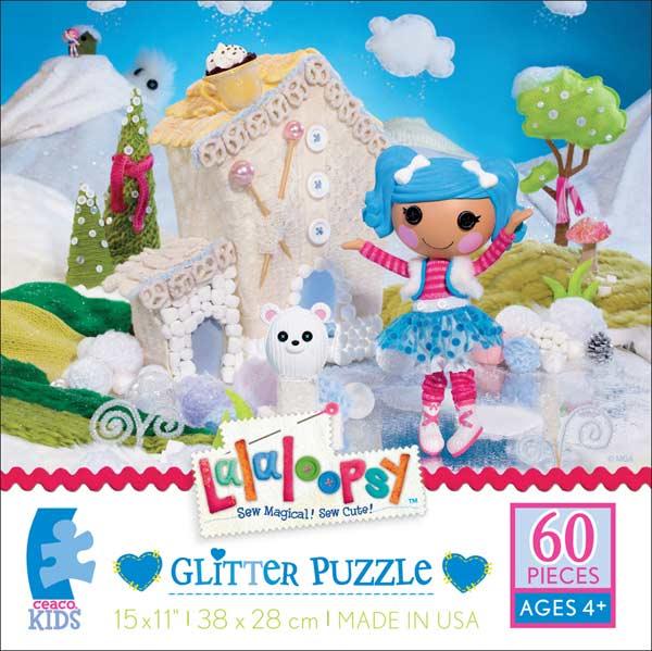 Glitter Puzzle - Mittens Fluff n Stuff Cartoons Glitter/Shimmer/Foil